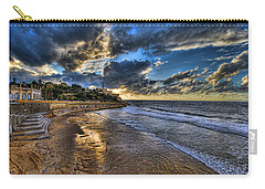 Carry-all Pouch featuring the photograph the golden hour during sunset at Israel by Ronsho