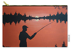 Carry-all Pouch featuring the painting The Golden Hour by Norm Starks