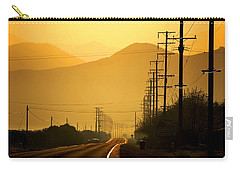 Carry-all Pouch featuring the photograph The Golden Road by Matt Harang