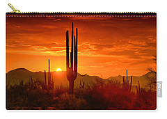 The Golden Southwest Skies  Carry-all Pouch