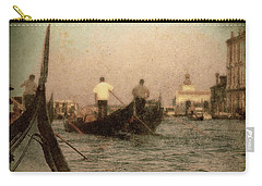Carry-all Pouch featuring the photograph The Gondoliers by Micki Findlay
