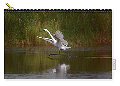 Carry-all Pouch featuring the photograph The Great Egret by Leticia Latocki