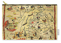 The Great Lakes State Carry-all Pouch by Michelle Calkins