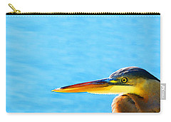 The Great One - Blue Heron By Sharon Cummings Carry-all Pouch by Sharon Cummings