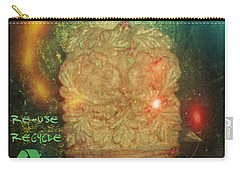 Carry-all Pouch featuring the photograph The Green Man - Recycle by Absinthe Art By Michelle LeAnn Scott