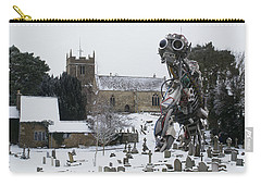 Carry-all Pouch featuring the digital art The Grim Reaper by Ron Harpham