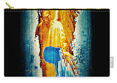 Carry-all Pouch featuring the digital art The Guardian Angel by Absinthe Art By Michelle LeAnn Scott