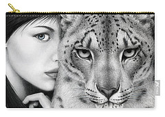 Carry-all Pouch featuring the painting The Guardian by Pat Erickson