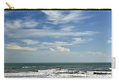 The Gulf Of Mexico From Galveston Carry-all Pouch by Allen Sheffield