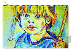 Carry-all Pouch featuring the drawing The Hammock by Helena Wierzbicki