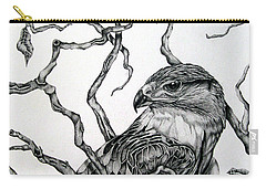 The Hawk Carry-all Pouch by Alison Caltrider