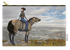 Carry-all Pouch featuring the digital art The High Country by Jayne Wilson