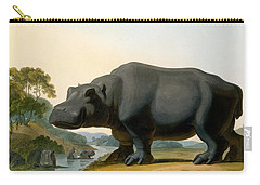 The Hippopotamus, 1804 Carry-all Pouch by Samuel Daniell
