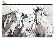 The Horse Club Carry-all Pouch by Athena Mckinzie