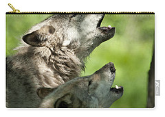 Carry-all Pouch featuring the photograph The Howling by Wolves Only