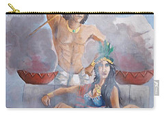 The Huey Tlatoni Or Emperor And Wife Carry-all Pouch