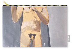 Carry-all Pouch featuring the painting The Insanity And Its Madness Enajenacion Y Su Locura by Lazaro Hurtado