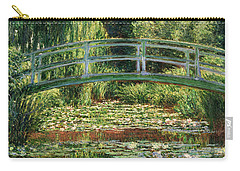 The Japanese Footbridge And The Water Lily Pool Giverny Carry-all Pouch by Claude Monet