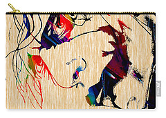 The Joker Heath Ledger Collection Carry-all Pouch by Marvin Blaine