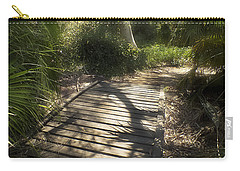 Carry-all Pouch featuring the photograph The Journey Along The Path Comes With Light And Shadows by Lucinda Walter
