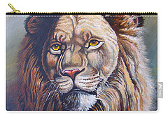 Carry-all Pouch featuring the painting The King by Anthony Mwangi