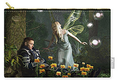The Knight And The Faerie Carry-all Pouch by Daniel Eskridge