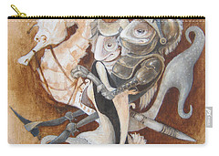 Carry-all Pouch featuring the painting The Knight Tale by Marina Gnetetsky