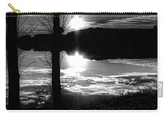 The Lake - Black And White Carry-all Pouch