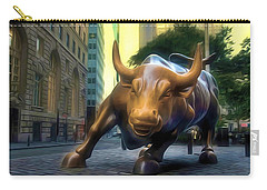 The Landmark Charging Bull In Lower Manhattan 2 Carry-all Pouch