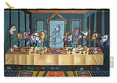 Carry-all Pouch featuring the painting The Last Supper by Anthony Falbo