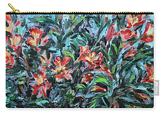 Carry-all Pouch featuring the painting The Late Bloomers by Xueling Zou