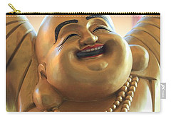 Carry-all Pouch featuring the photograph The Laughing Buddha by Amy Gallagher