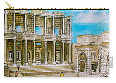 The Library At Ephesus Turkey Carry-all Pouch by Frank Hunter