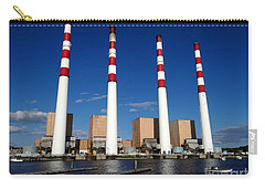 Carry-all Pouch featuring the photograph The Lilco Towers by Ed Weidman