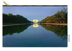 The Lincoln Memorial At Sunrise Carry-all Pouch by Panoramic Images
