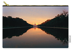 The Lincoln Memorial At Sunset Carry-all Pouch by Panoramic Images