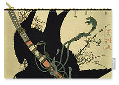 The Little Raven With The Minamoto Clan Sword Carry-all Pouch by Katsushika Hokusai