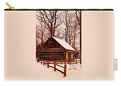 The Log Cabin At Old Mission Point Carry-all Pouch