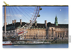 The London Eye And County Hall Carry-all Pouch by Rod McLean