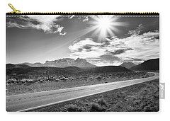 Carry-all Pouch featuring the photograph The Lonely Road by Howard Salmon