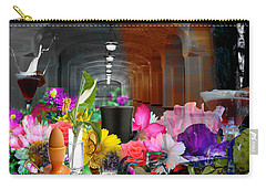 Carry-all Pouch featuring the digital art The Long Collage by Cathy Anderson
