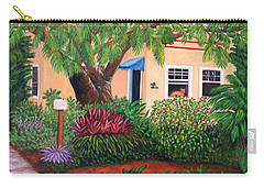 Carry-all Pouch featuring the painting The Long Wait by Karen Zuk Rosenblatt