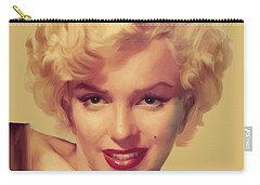 The Look In Gold Carry-all Pouch by Chris Consani