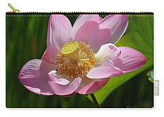 Carry-all Pouch featuring the photograph The Lotus by Vivian Christopher