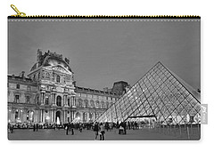 The Louvre Black And White Carry-all Pouch by Allen Beatty