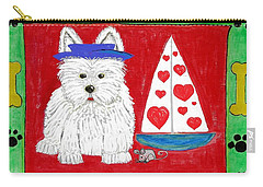 Carry-all Pouch featuring the painting The Love Boat by Diane Pape