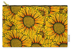 The Madding Crowd Carry-all Pouch by Carol Jacobs