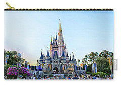 The Magic Kingdom Castle On A Beautiful Summer Day Horizontal Carry-all Pouch by Thomas Woolworth