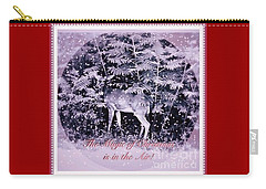 Carry-all Pouch featuring the photograph The Magic Of Christmastime In A Woodland II by Kimberlee Baxter