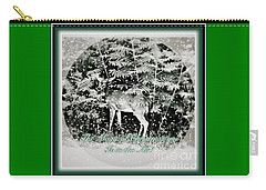 Carry-all Pouch featuring the photograph The Magic Of Christmastime In A Woodland by Kimberlee Baxter